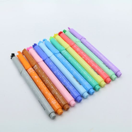 12color Gift Pen Plastic Highlighter Stars Moon Seal Highlighter pictures & photos