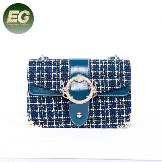 91b6cb0545 Last Fashion Design Elegance Woolen Shoulder Bag with Golden Sh780. Get  Latest Price