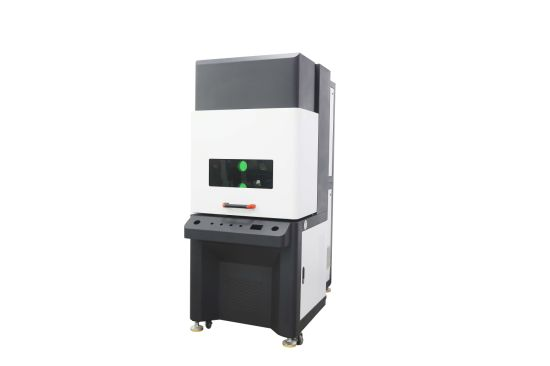 3D Dynamic Fiber Laser Marking Cabinet for 600*600mm Working Area