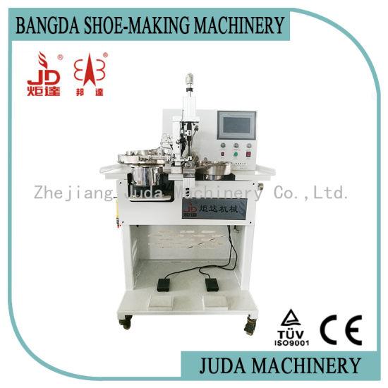 Automatic Shoe Making Machine Plastic Pearl and Button Setting Machine