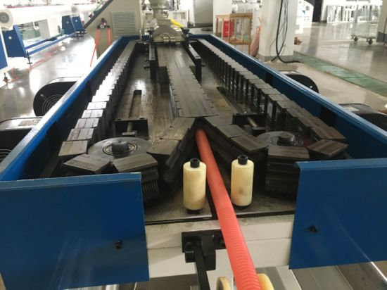 PA PE PP PVC Single Wall Double Wall Corrugated Pipe Extrusion Line pictures & photos
