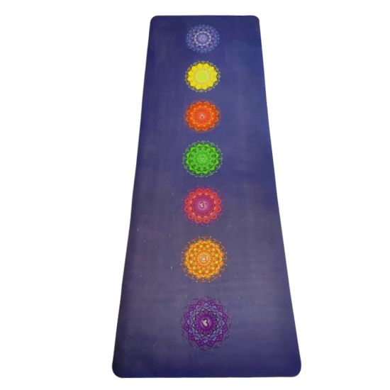 Factory OEM Wholesale Organic & Biodegradable Natural Rubber Suede Yoga Mat with Yoga Bag