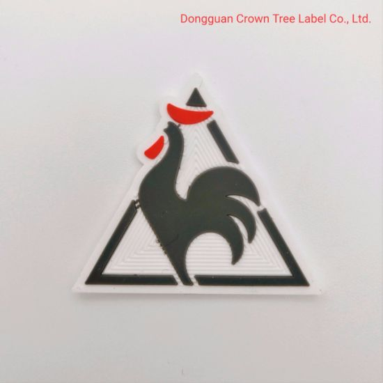 Populared Rooster 3D Silicone Label for Clothing