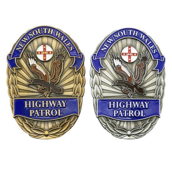Wholesale Cheap Customized Logo Metal Military Emblem Name Tin Button Lapel Pin Tin Metal Custom Security Police Badges