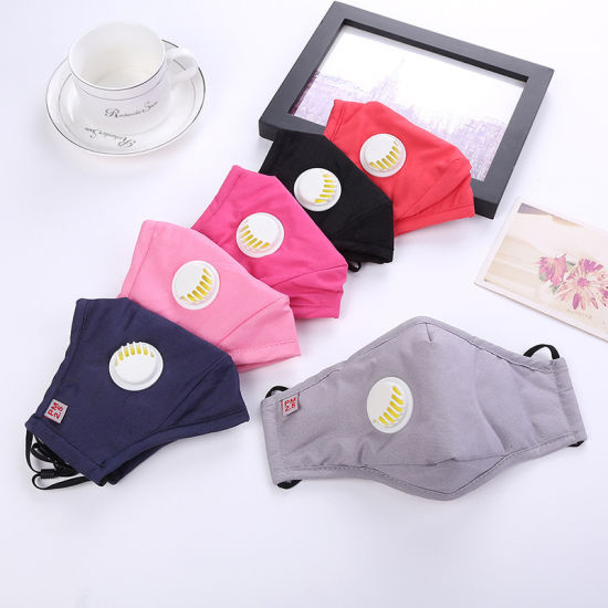 Pm2.5 Cotton Mask with Valve Dust Color Mask with Filter Protect Mask pictures & photos