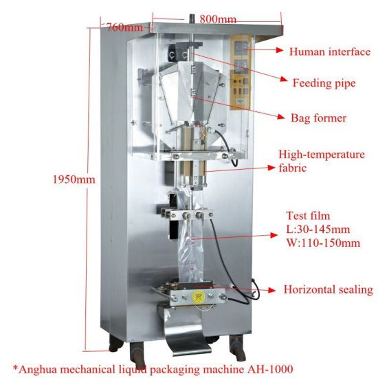 Automatic Water Milk Liquid Packing/Package Machine (AH-1000)