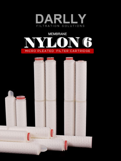 0.1 Micron Pleated Filter Cartridge with Nylon6 Media FDA Approved for Pharmaceutical