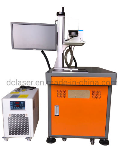 3W 5W UV Flying Laser Marking Machine with Industrial Chiller