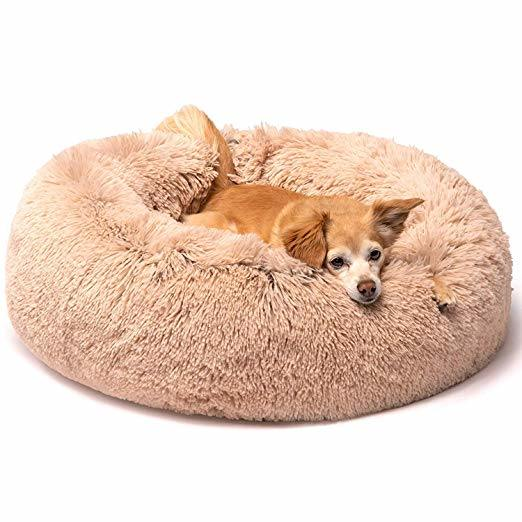 Thick Plush Round Pet Ultra Soft Washable Dog and Cat Cushion Bed Fluffy Dog Bed Deep Sleep Cat Nest Dog Nest pictures & photos