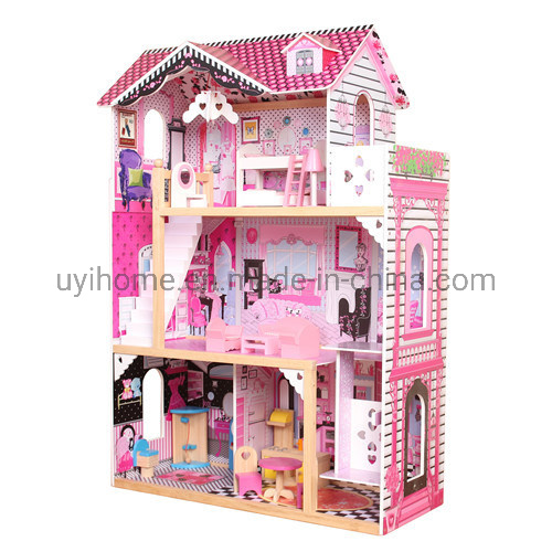 Dollhouse with an Elevator Interactive 3+ Wooden Toys House pictures & photos