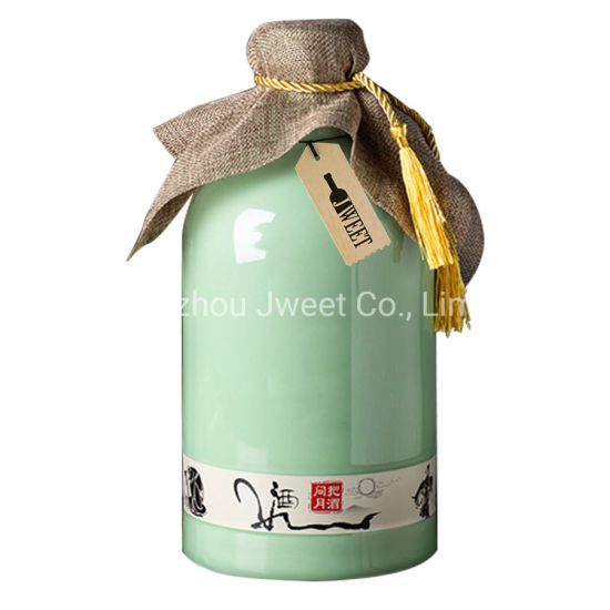Food Grade 750 Ml Ceramic Oil Bottle