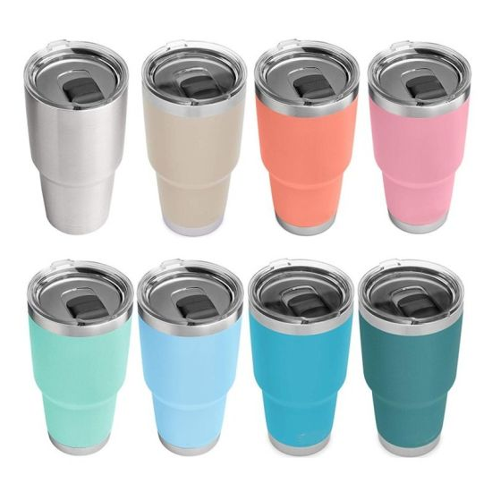China Price Wholesale Double Wall Vacuum Insulated Travel Rambler Stainless Steel 30oz Tumbler