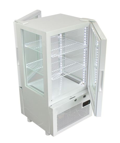 Bench Top Four Sided Glass Display Cooler with LCD Screen Yy-63W