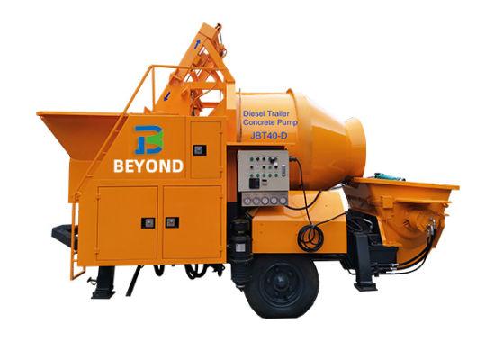 Diesel Mobile Concrete Mixer Pump
