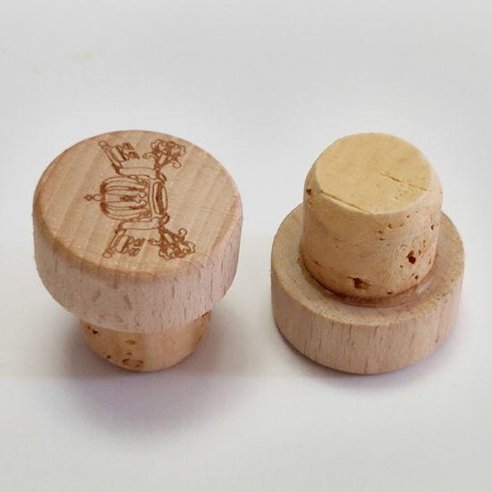 Customized Wooden Cork Wine Bottle Stopper