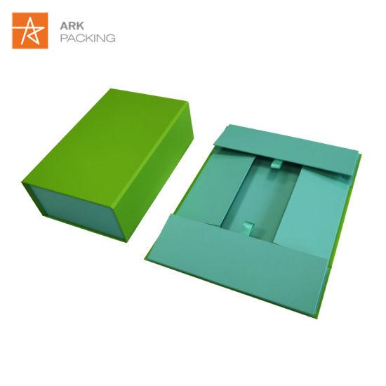 Customized Rigid Garment Cosmetic Magnetic Foldable Gift Box
