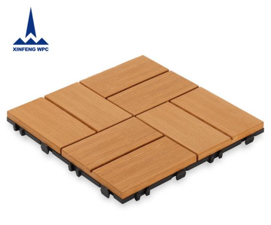 Xf Durable WPC Outdoor Flooring DIY Decking Tiles