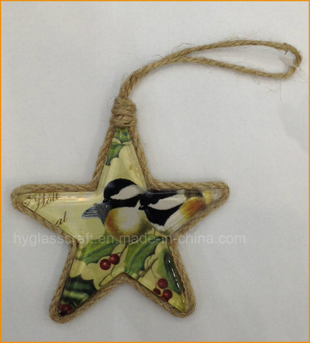 Hand Painted Hanging Christmas Tree Decoration