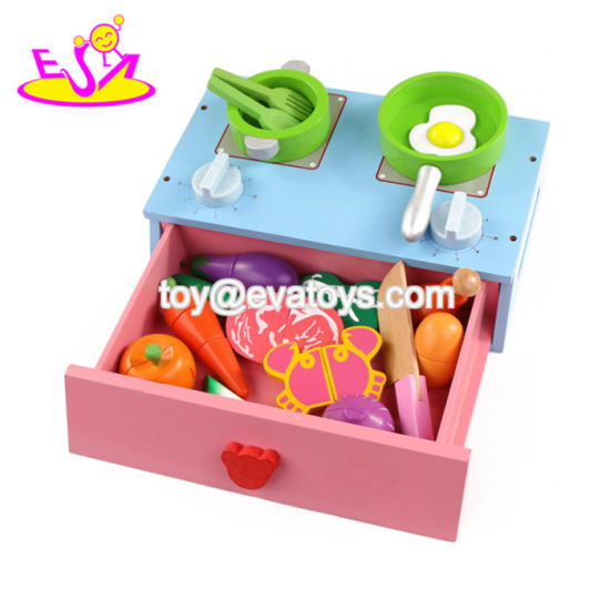 New Hottest Kids Pretend Play Wooden Toy Kitchen Stove with ...