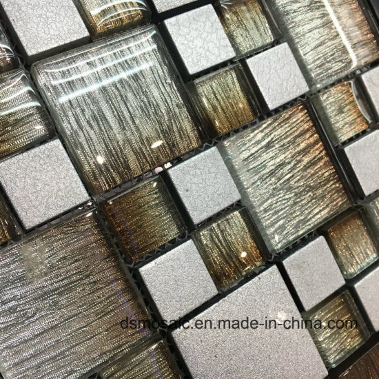 Brown Laminated Glass Mosaic Tile pictures & photos