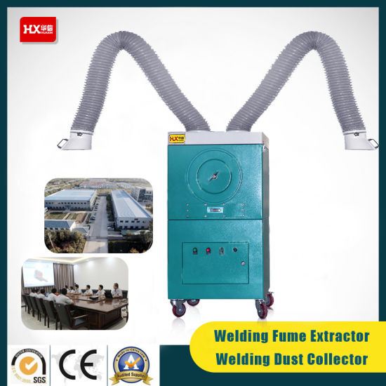 Mobile/Portable Welding Fume Extractor/Dust Collector with Double Arms, ISO, SGS, Ce pictures & photos