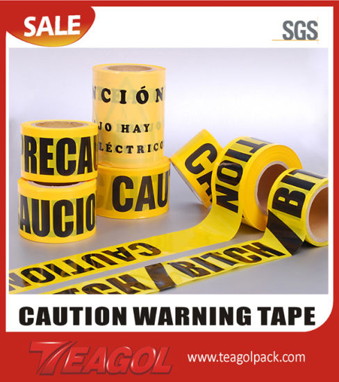 Words Printed Aisle Marking Caution Tape
