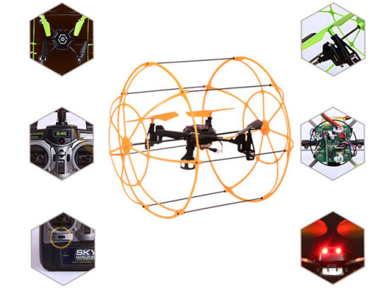 2.4GHz 4CH Wall Climbing Sky Walker RC Quadcopter Kit Remote Control Helicopter 10177066 pictures & photos