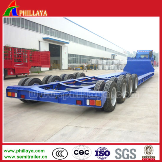 Excavator Gooseneck Low Loader Semi Low Bed Trailer pictures & photos