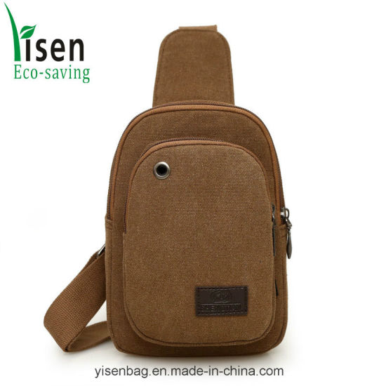 Outdoor Travel Sports Running Canvas Sling Chest Bag