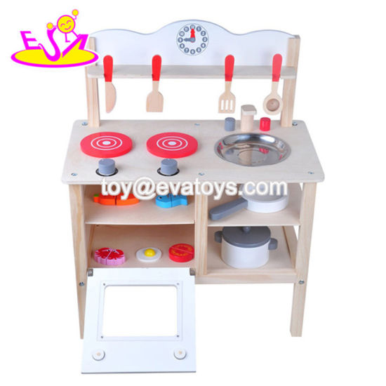 Top Quality Pretend Wooden Kitchen Play Set for Children W10c401