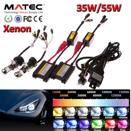 New Generation Fast Start 3000k 6000k 8000k 10000k HID Kit 12V 35W HID H4 H7 9005 9007 pictures & photos