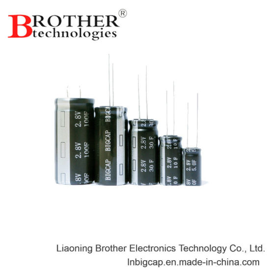 Cylidrical Type High Power Super Capacitor (2.8V 60f) Farad Capacitor pictures & photos