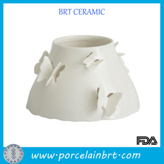 China Butterfly Ceramic Large Luxury Candle Jars China Ceramic Candle Jar And Candle Holders Price