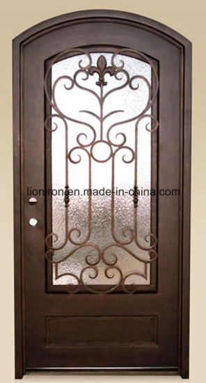 Simple Design Iron Doors Interior Steel Enrty Glass Door For Villa