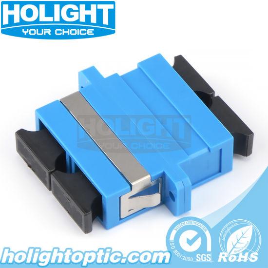 Optical Sc to Sc Fiber Coupler with Flange