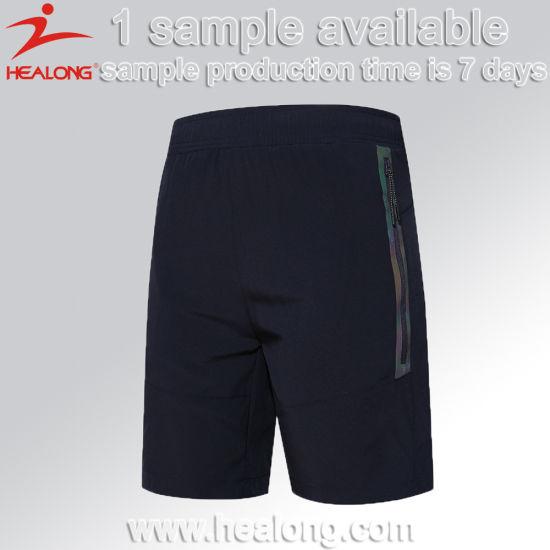 Healong Top Sale Gym Wear Cut & Sew Plain Sports Shorts