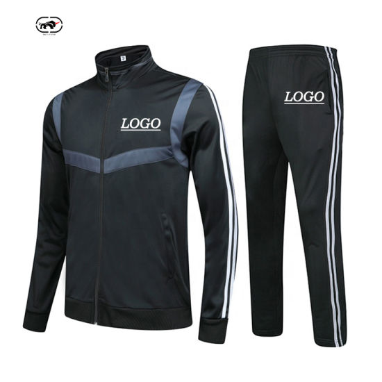 Professional Factory Custom Wholesale Comfortable and Fashionable Lycra Cotton Polyester Embroidery Men's Sportswear Suit Manufacturer