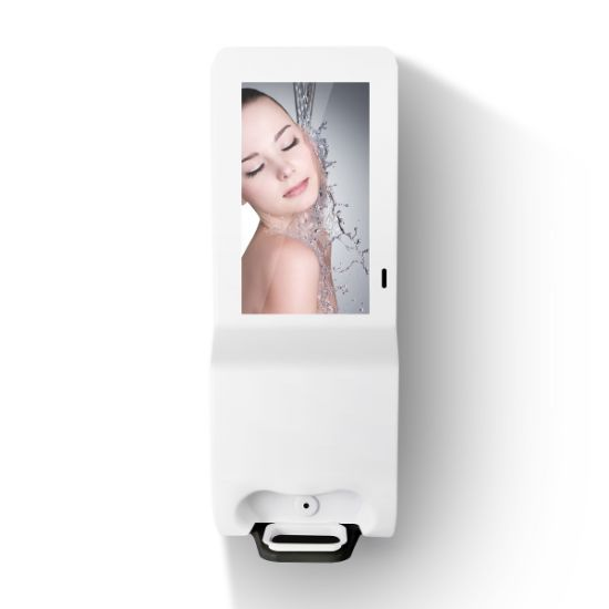 Hot Selling Android 21.5 Inch Floor Stand Digital Signage with Auto Hand Sanitizers Dispenser