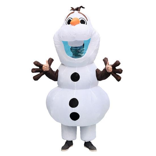 Frozen Cosplay Kostüm Olaf Snowman Unisex Weiß T-Shirt Cospaly Karneval Rabatt