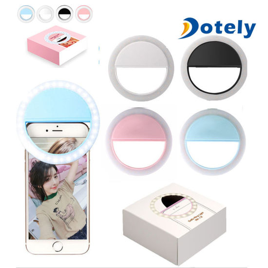 Clip on Selfie Ring Light with LED for Smart Phone Camera