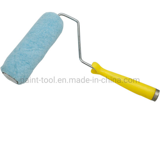 """5 Wires Blue Polyester Fabric Paint Roller 9"""" Manufactured in China"""