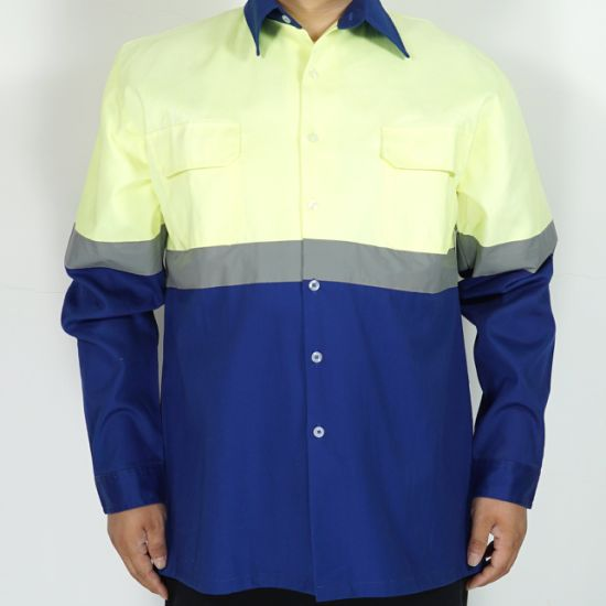 100%Cotton Workwear Uniform Jumpsuit Safety Security Workwear
