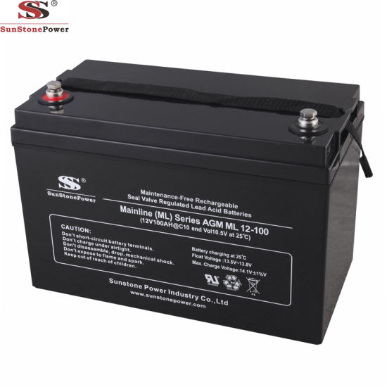 Sealed Rechargeable Lead Acid VRLA Battery 12V 100ah Deep Cycle AGM UPS Battery