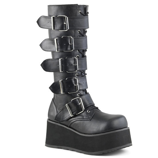 Fashion Women Shoes Military Leather Branded Ladies Boots Platform Long Women Boots
