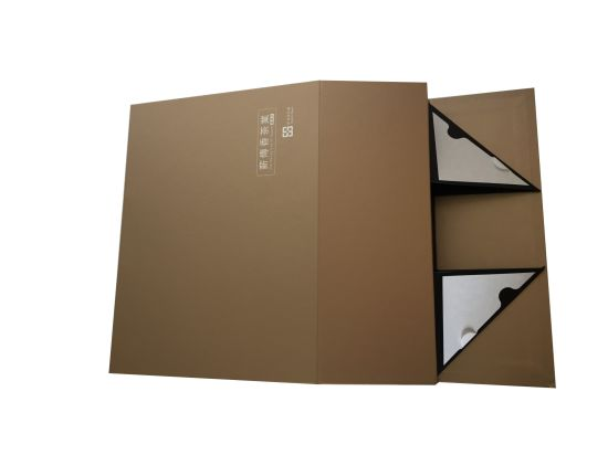 High-End Tea Foldable Paper Box Export Flat Packing