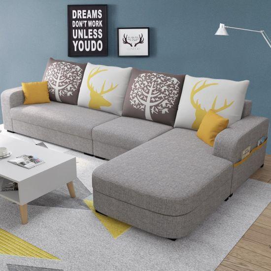 new design l shaped sectional sofa luxury furniture set living room white leather corner sofa 0007