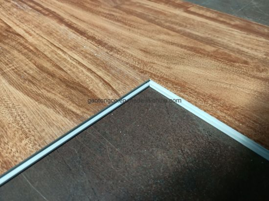 100% Virgin Stone Plastic Flooring Stock 4mm Luxury Spc Click Flooring Planks