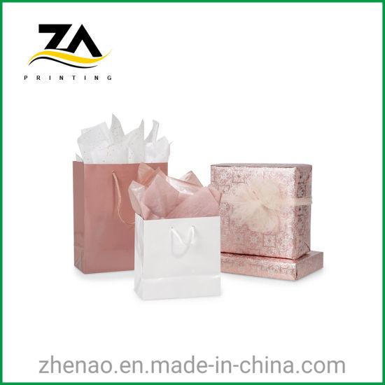 Customized Printing Fashion Pink Gift Packaging Paper Bag