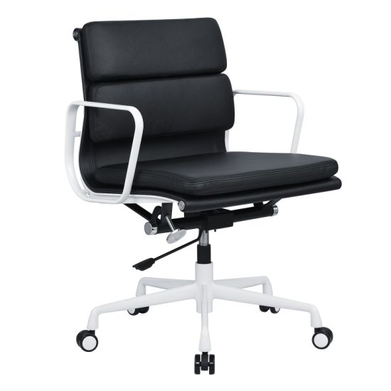 Wholesale MID Back Soft Pad Leather Manager Swivel Guest Chair