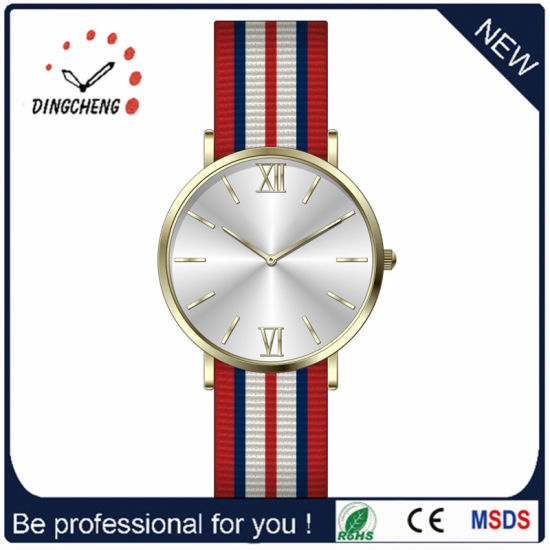 Custom Logo Stainless Steel Watch Quartz Watch Men Leather Watch (DC-0369) pictures & photos
